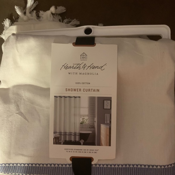 Hearth and hand cloth shower curtain